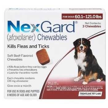 Merial Nexgard 25 50kg Xapi Gia E3wparasita Timh Tem Petshop Samolis Dogs Flea And Tick Fleas