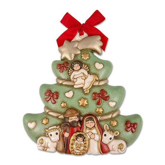 Natale Thun.Albero Di Natale Con Sacra Famiglia Thun Idee Di Natale Ornamenti Natalizi