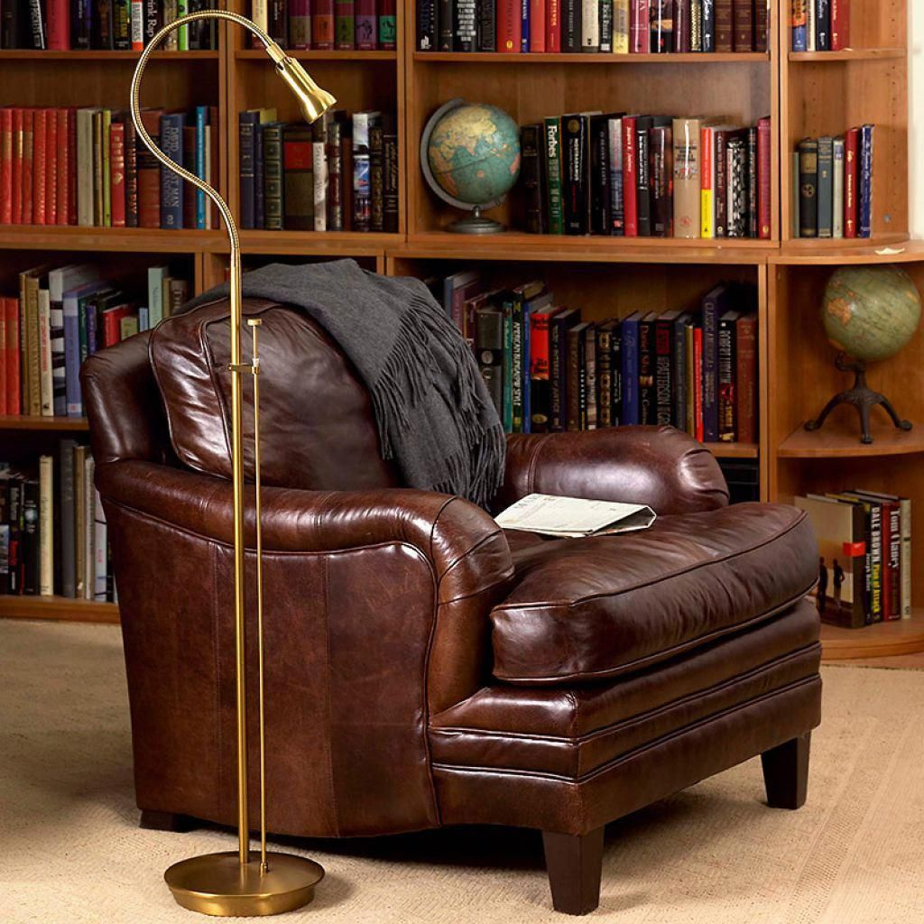The Proper And Optimal Reading Lamps Leather sofa