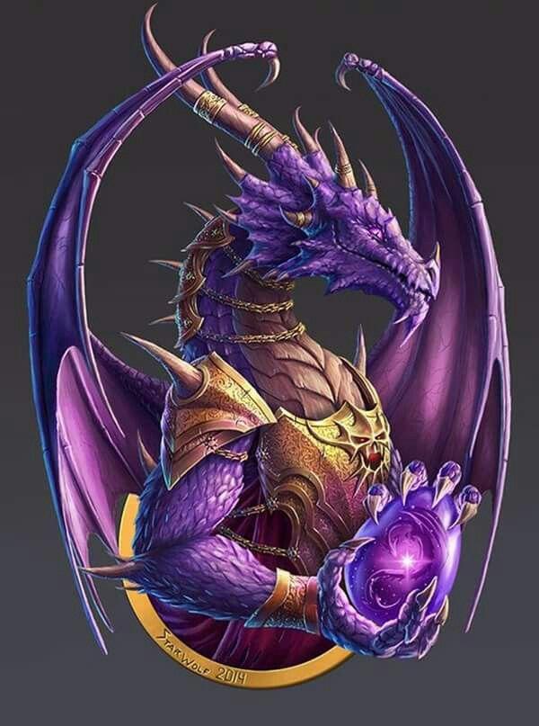 Regal Purple Dragon Dragons Fantasyart Dragon Artwork