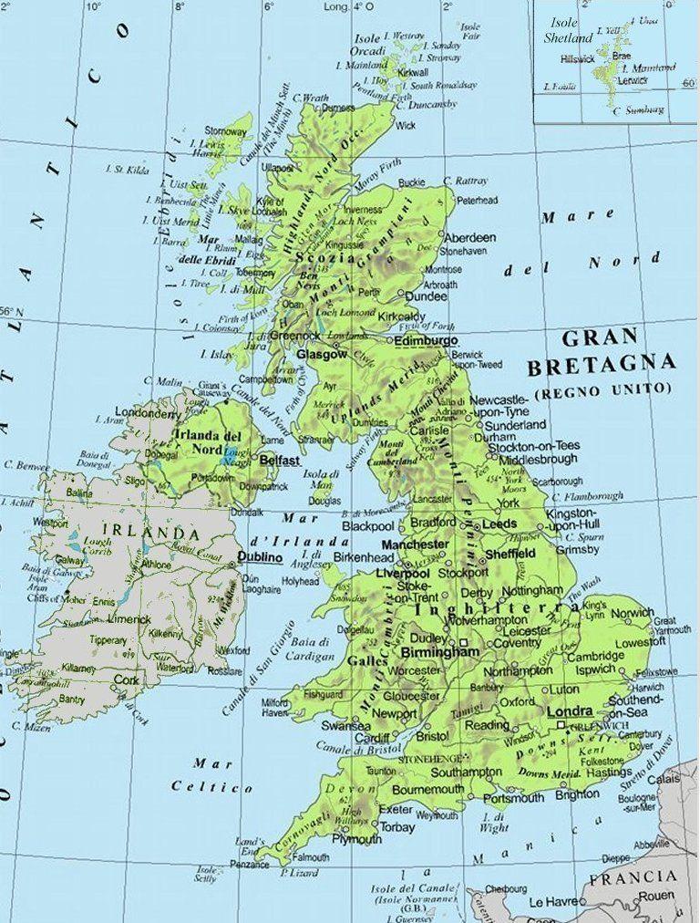 Gran Bretagna Cartina.Cartina Gran Bretagna Cerca Con Google Scuola2 Gran