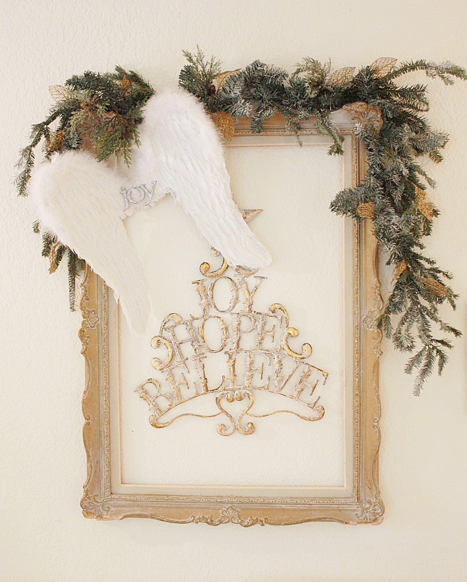 White and gold vintage christmas  @Carrie Kwinter Kween & Patina