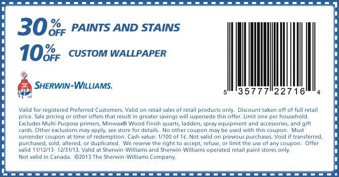 Sherwin Williams Coupon Print Coupons Sherwin Williams