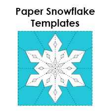 printable unique snowflake template  Make your own paper snowflakes using these free printable ...