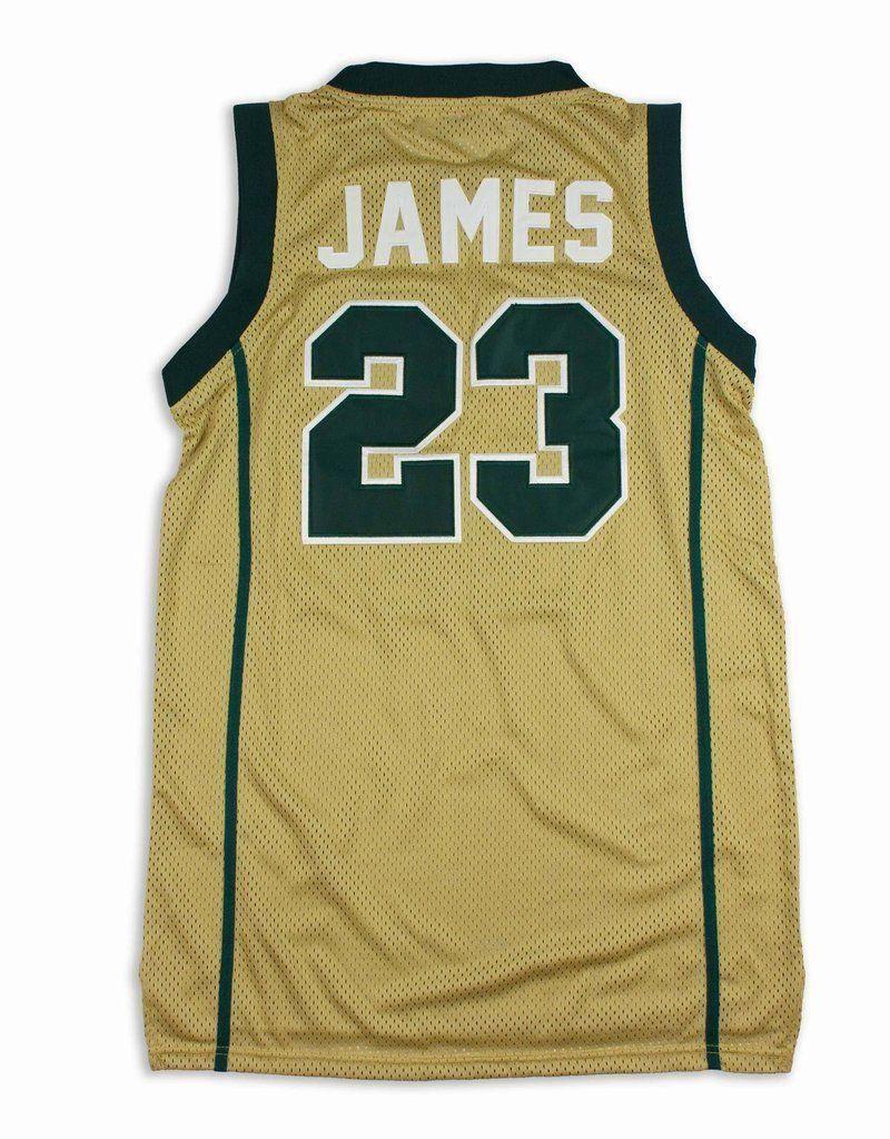 quality design ac461 09524 LeBron James St. Vincent Headgear Men's Gold High School ...