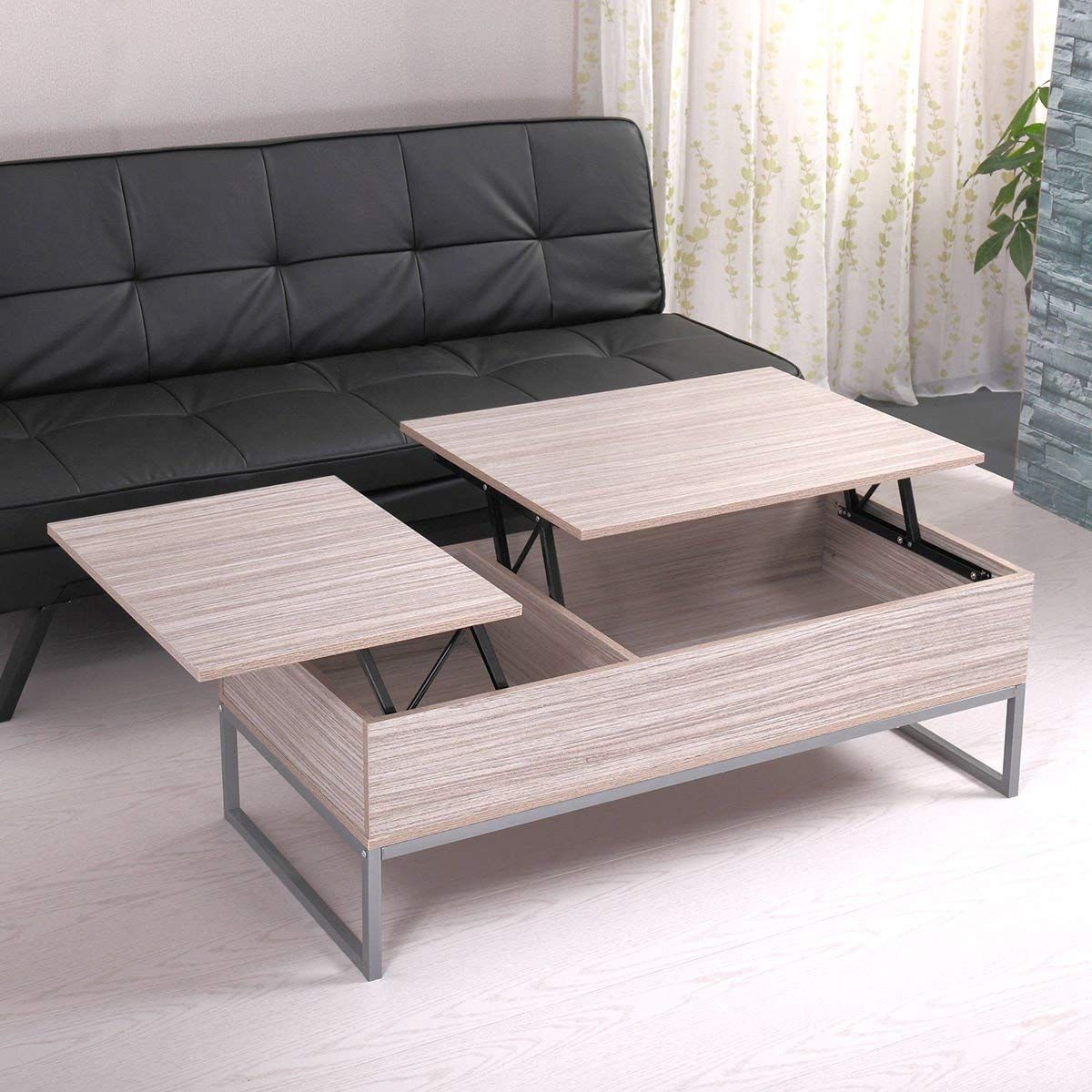 Top Coffee Table With Under Storage Shelf Modern Living Room