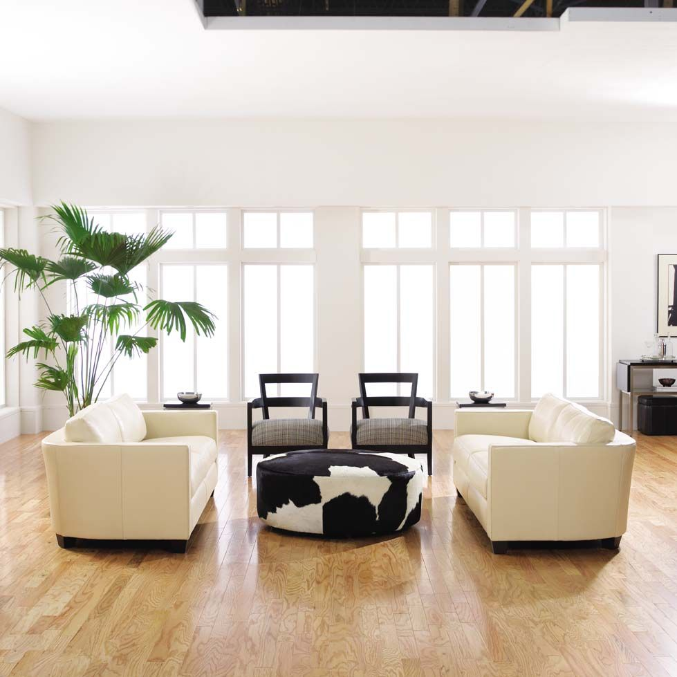 No Rooms Colorful Furniture: White Walls, Light Wood Floors And Cream Colored Furniture
