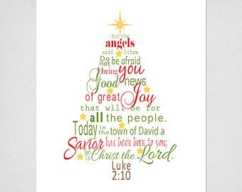 Luke 2 Bible Verse Christmas Tree Subway par SignsofFaithCreation ...