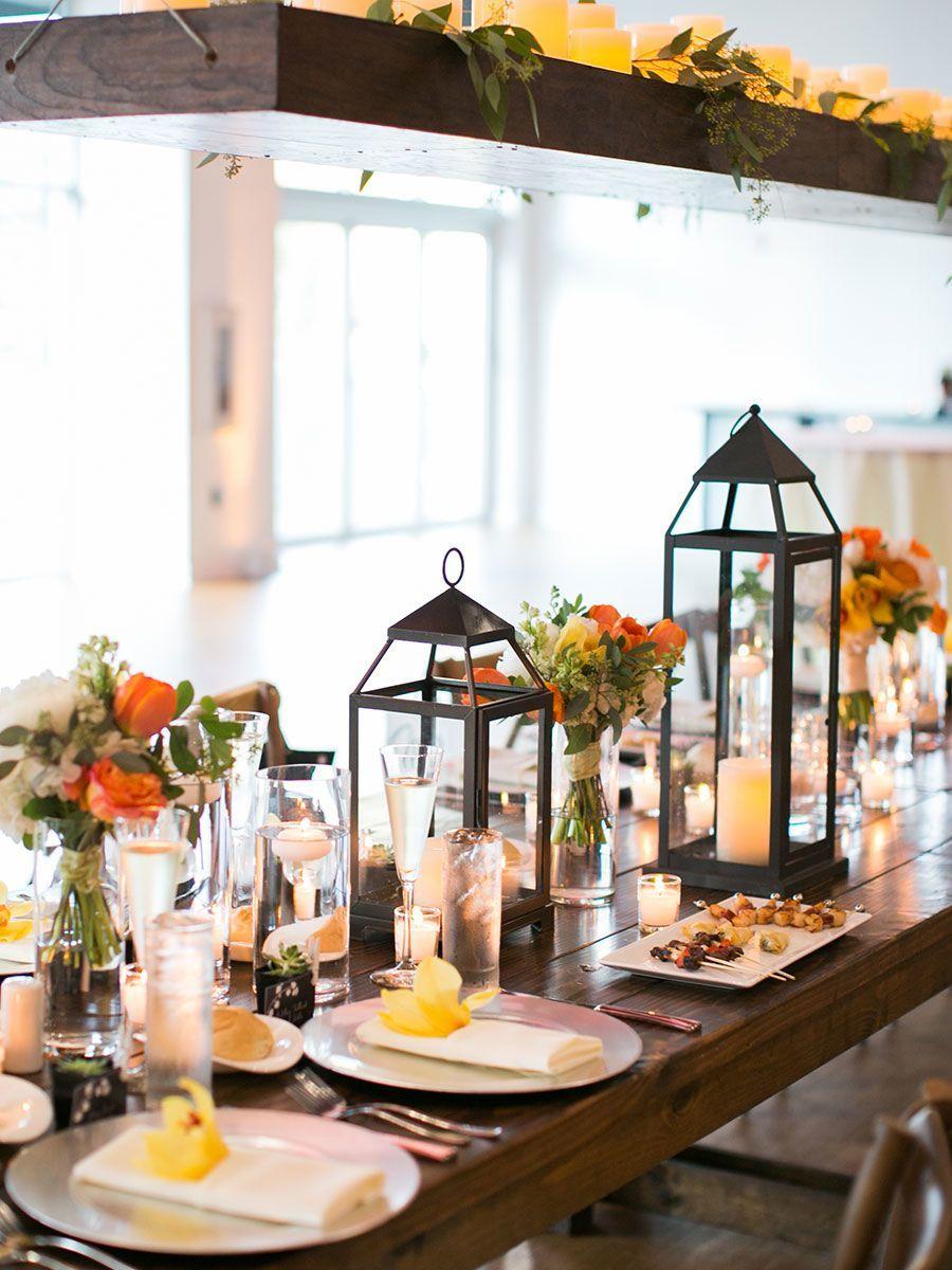 Glass lantern centerpieces with flowers   Carol\'s wedding ideas ...