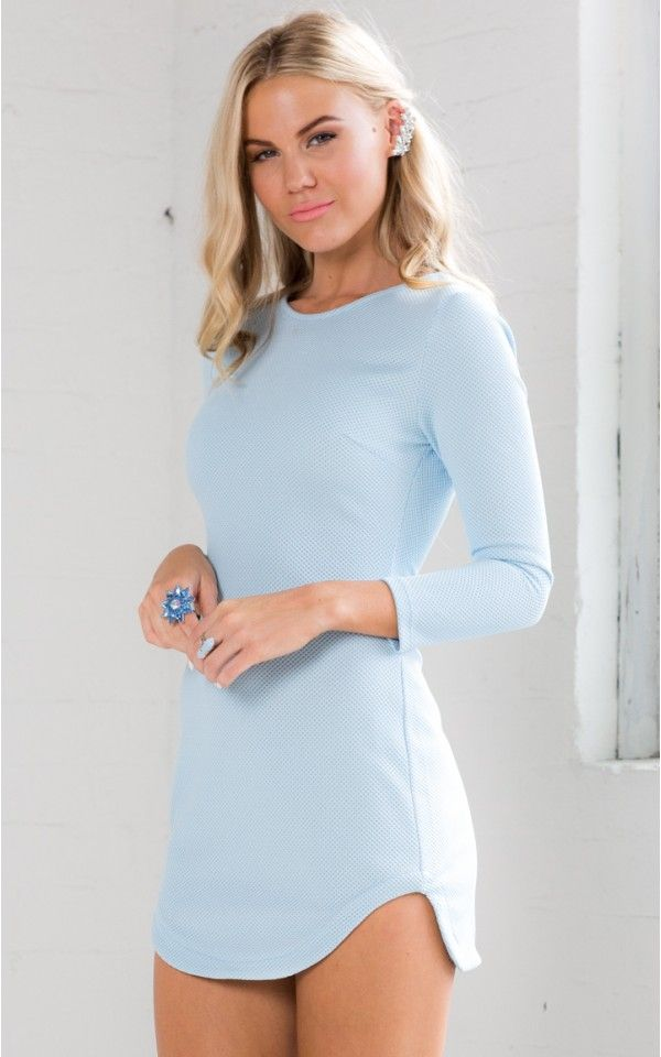 Get The Scoop dress in ice blue | SHOWPO Fashion Online Shopping