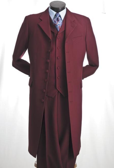 mens 3 piece maxi suit in burgundy for men discount. Black Bedroom Furniture Sets. Home Design Ideas