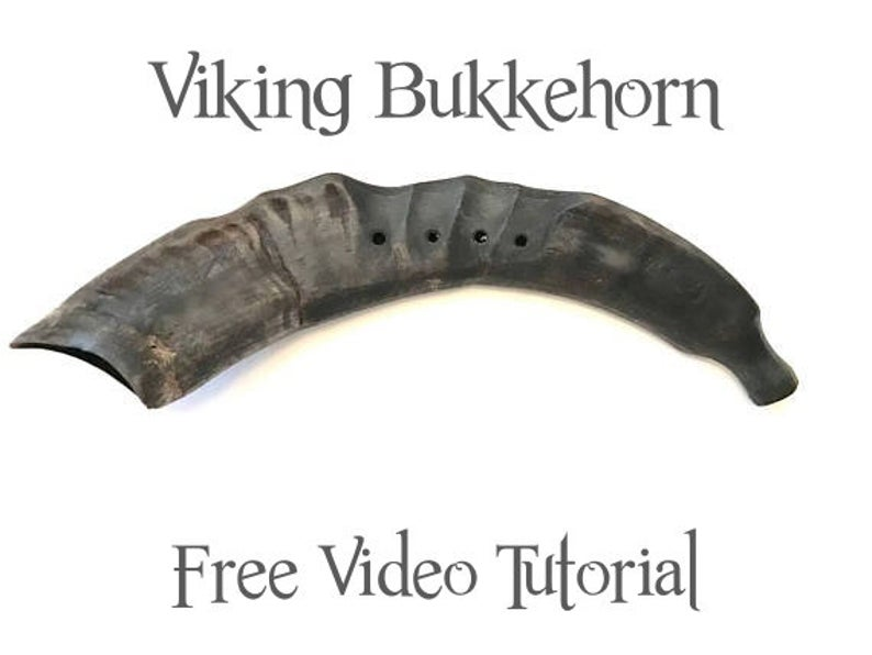 Bukkehorn High Pitched Viking Norwegian Horn Instrument Etsy Vikings Horn Instruments Goat Horns