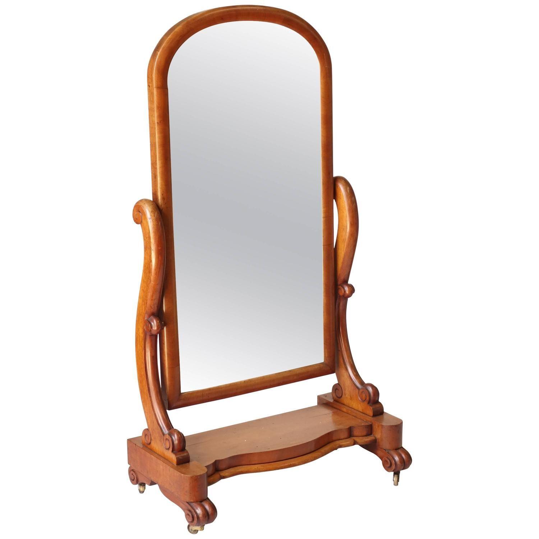 Victorian Floor Standing Mirror   Floor standing mirror, Victorian ...
