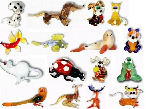 Glass Animal Figurines Glass Animals Animal Figurines Blown Glass Art