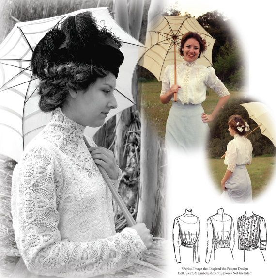 Titanic Edwardian Sewing Patterns- Dresses, Blouses, Corsets, Costumes