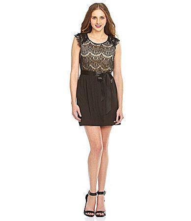 Teeze Me CapSleeve Lace Dress #Dillards