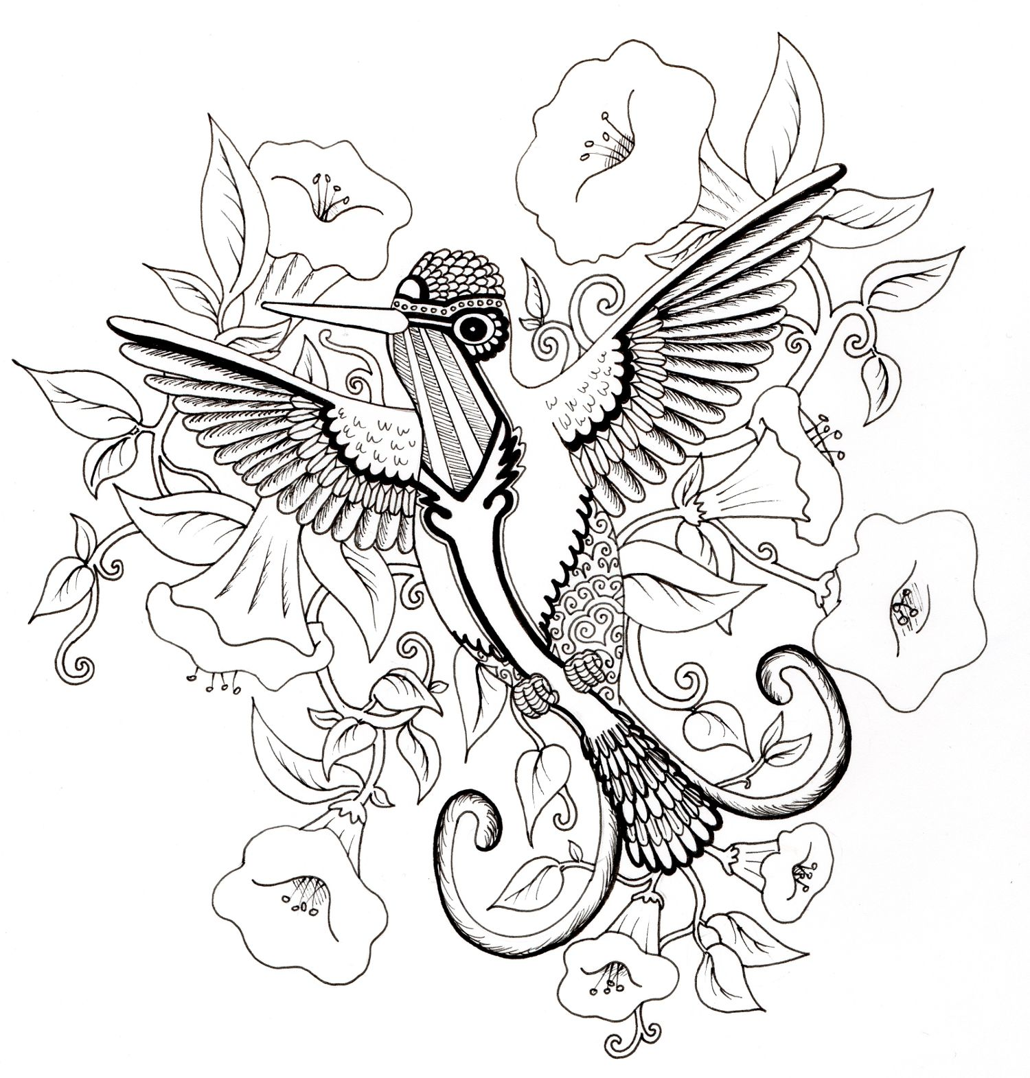 Unusual Coloring Pages Of Hummingbirds Ideas - Entry Level Resume ...