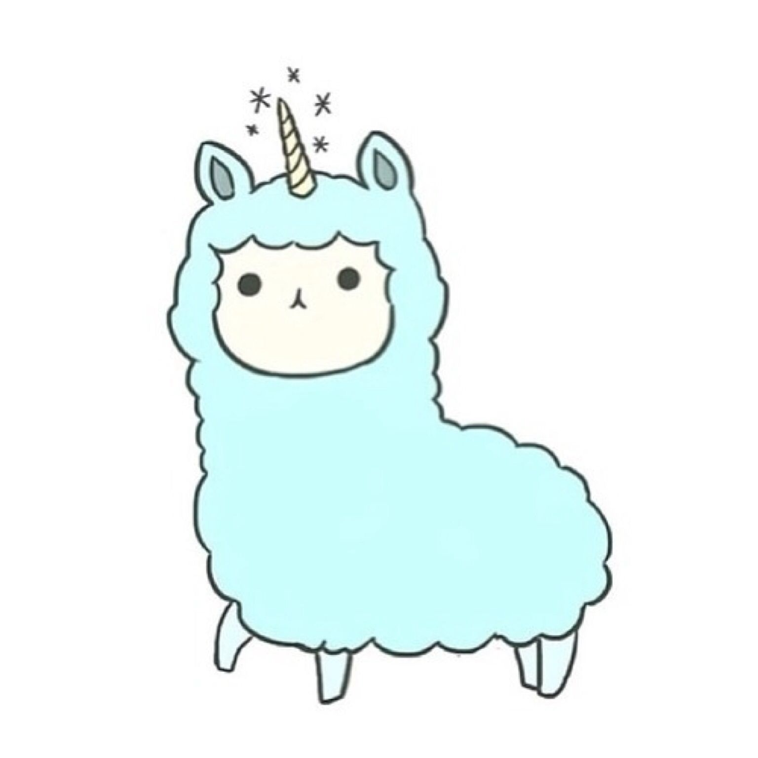 Cute Sheep Drawing Tumblr Llamacorn Kawaii Pinterest Unicorns Kawaii And Doodles