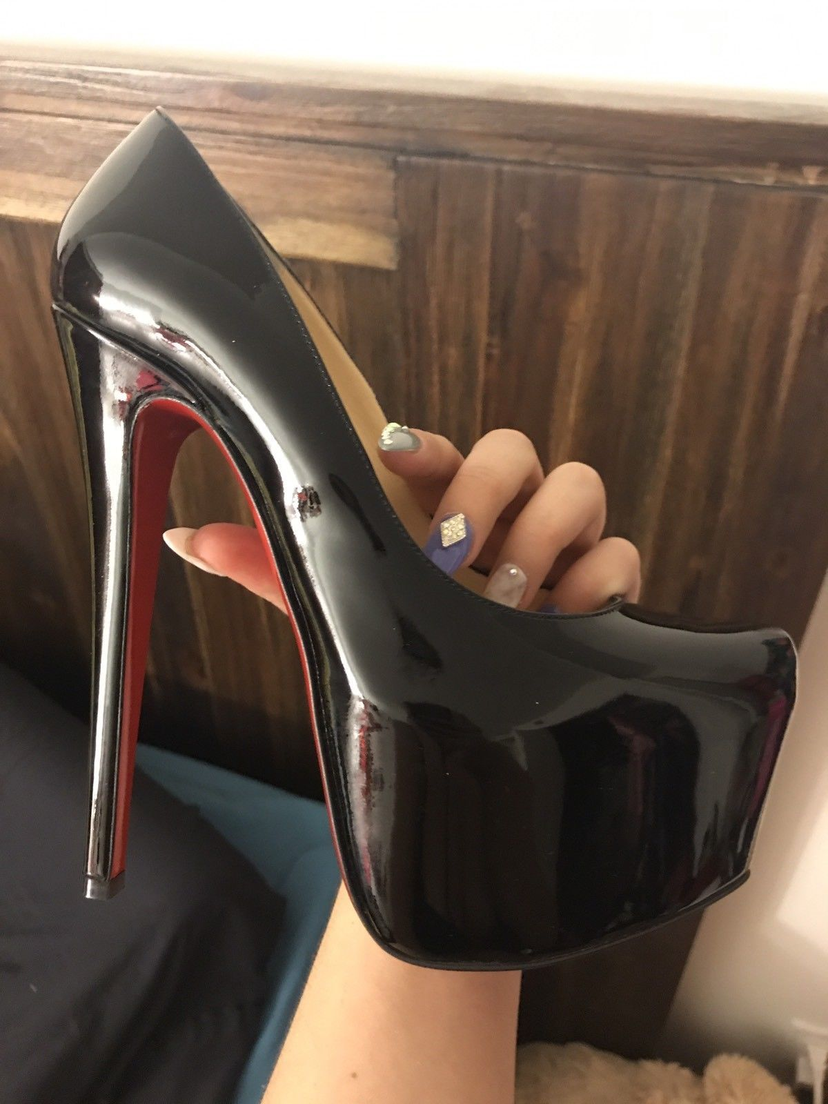 b5b624356da0 Authentic Black Patent Louboutin Daffodile 36 SOLD OUT EVERYWHERE BNIB!!