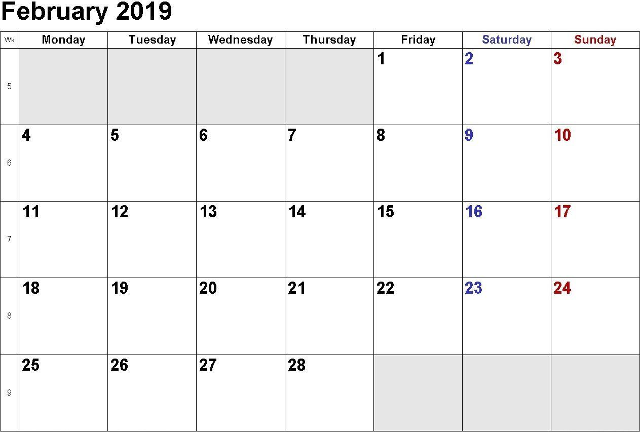 February 2019 Calendar Singapore | February 2019 Calendar