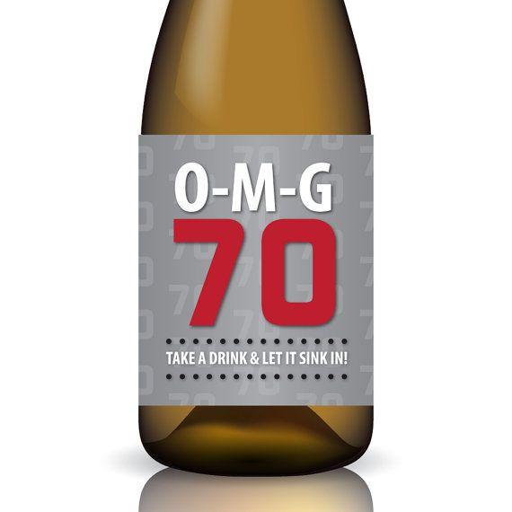 70th Birthday Quot O M G 70 Quot Printable Birthday Wine Label
