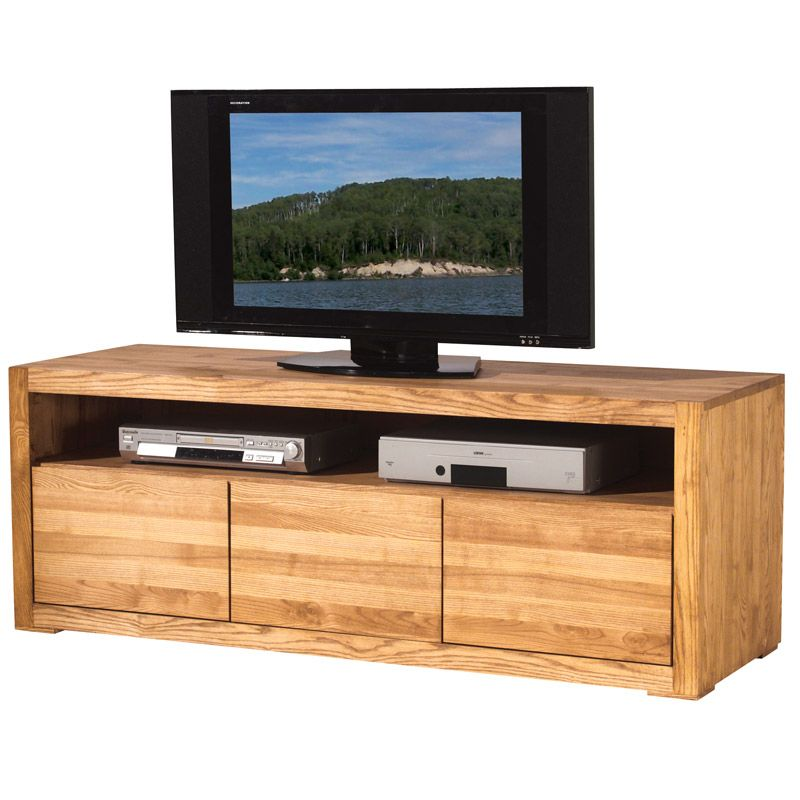 Meuble Tv En Frene Massif Collection Hartford Meuble Tv Meuble Tv Bois Mobilier De Salon