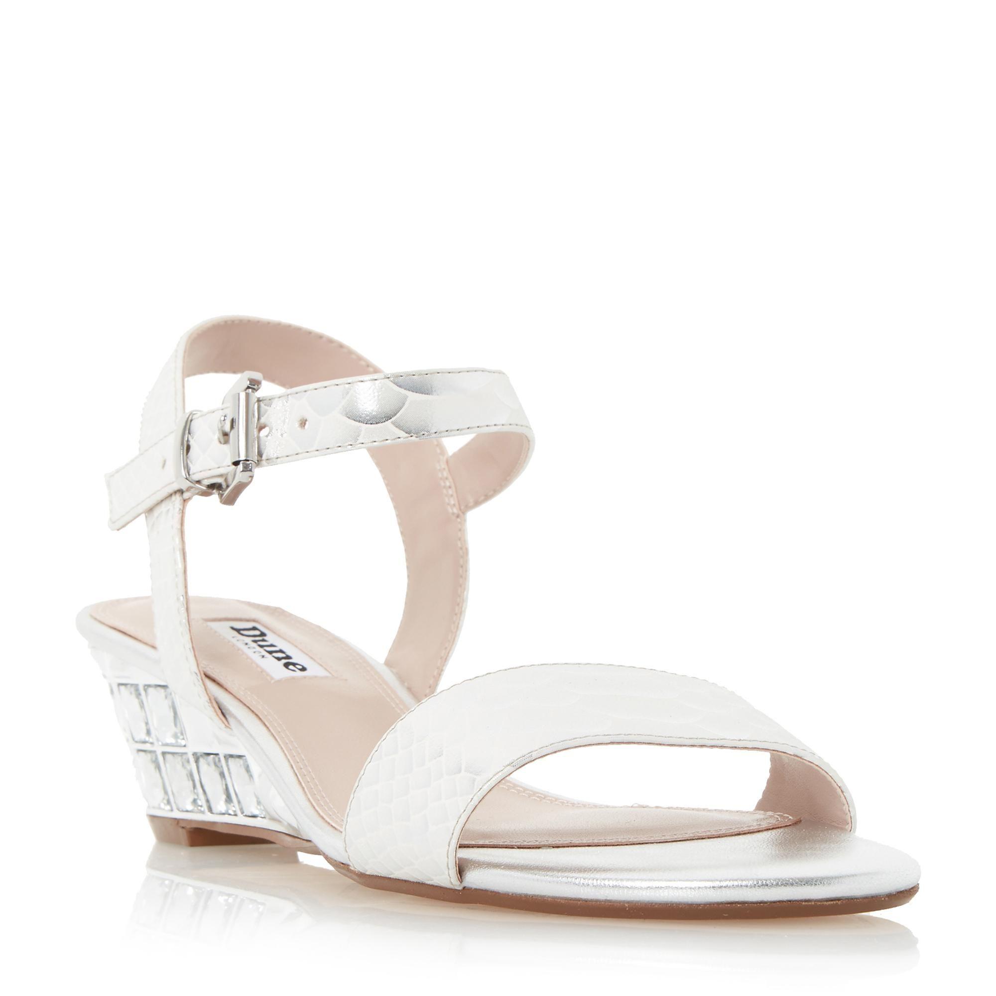 962eb59e24e9e1 DUNE LADIES MONAA - Jewelled Wedge Sandal - silver