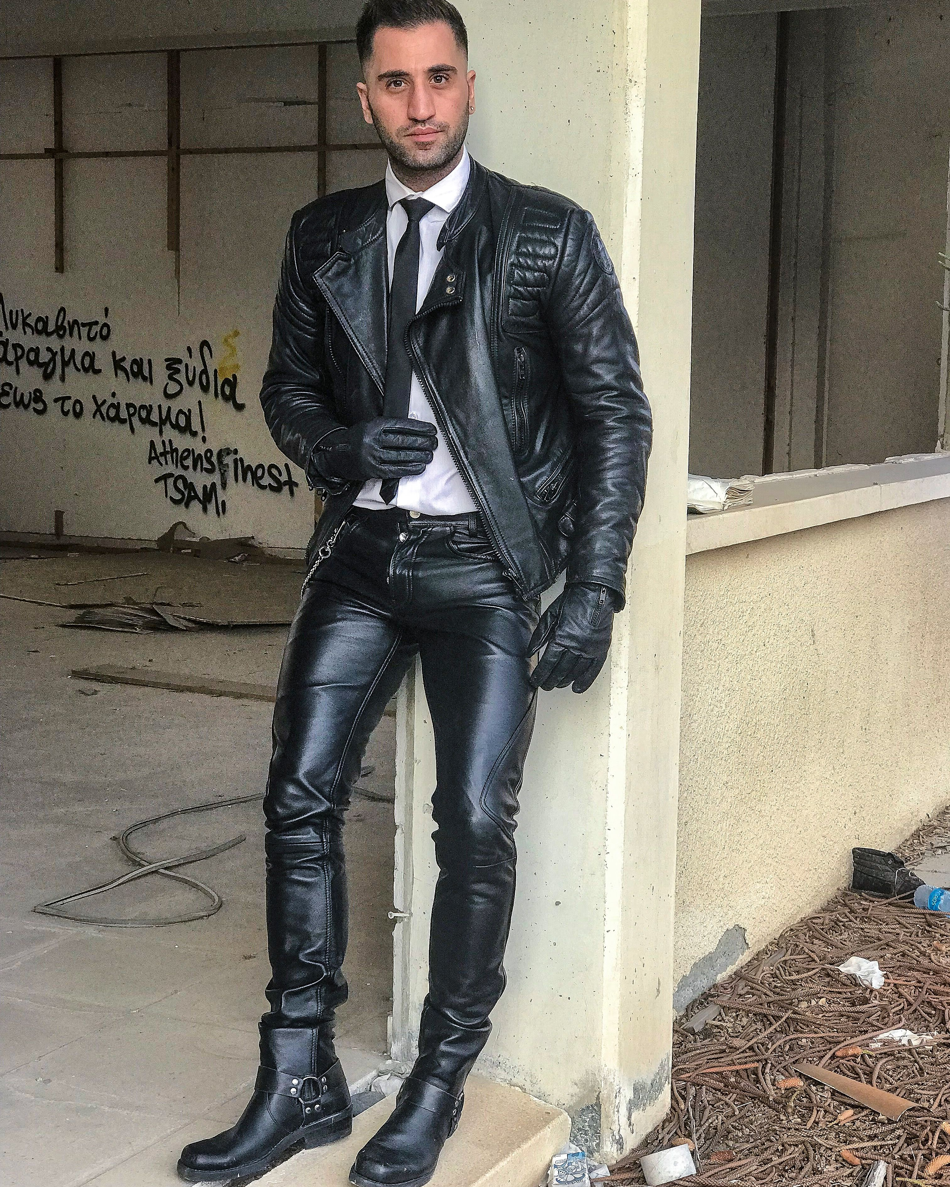 Already fetish men leather boots