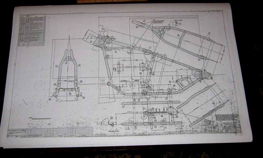 harley softail frame diagram hall effect sensor davidson hard tail blueprint drawing poster print hardtail panhead harleydavidson