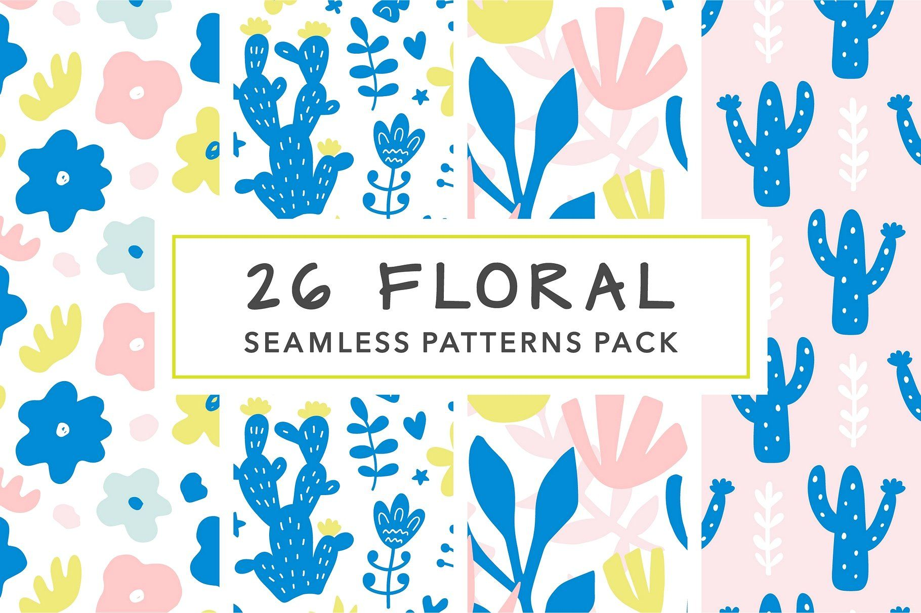 26 bright and cool floral seamless patterns They are perfect for