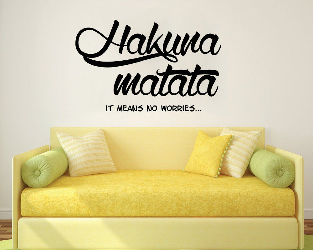Wall Decals Quotes Hakuna Matata Letters Words Decals Vinyl Sticker ...