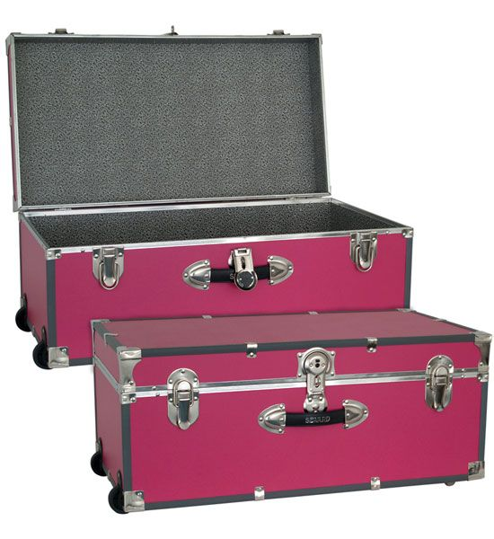 Captivating This Pink Collegiate Wheeled Storage Trunk Is A Great, Bright Storage  Option For Teens Or