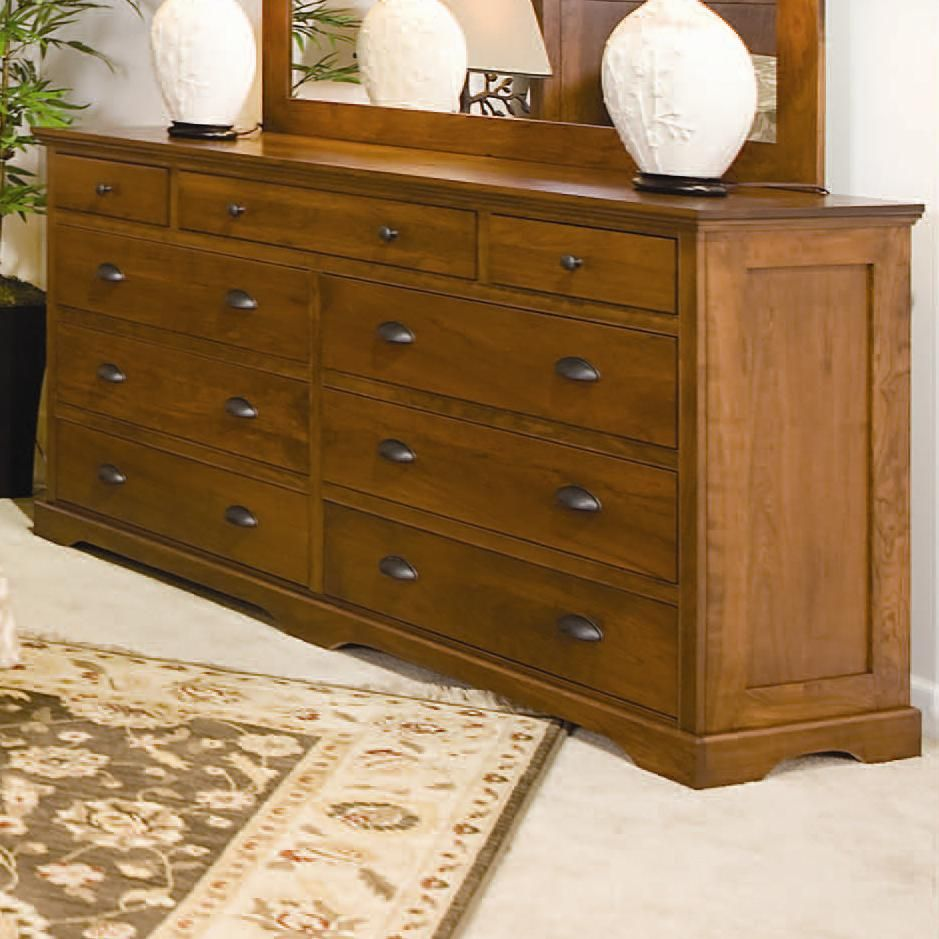 Best Amish Elegance 9 Drawer Double Dresser By Daniel S Amish 400 x 300