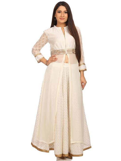 1fde14fe4 Shop Off White Viscose Straight Suit Sets online at Biba.in - SKD4693OWHT
