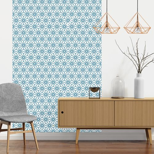 papier peint adh sif sterling bleu le grand cirque wallpaper wall papers and salons. Black Bedroom Furniture Sets. Home Design Ideas