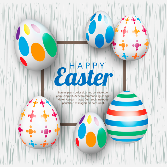 Easter Background Template With Beautiful Eggs Vector Illustration Easter Clipart Easter Eggs Png And Vector With Transparent Background For Free Download Easter Backgrounds Easter Graphics Background Templates