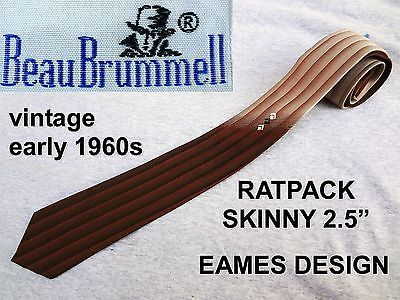 60s vintage ratpack beau #brummell tie eames #hipster atomic super #skinny w2.5�,  View more on the LINK: 	http://www.zeppy.io/product/gb/2/371523192691/