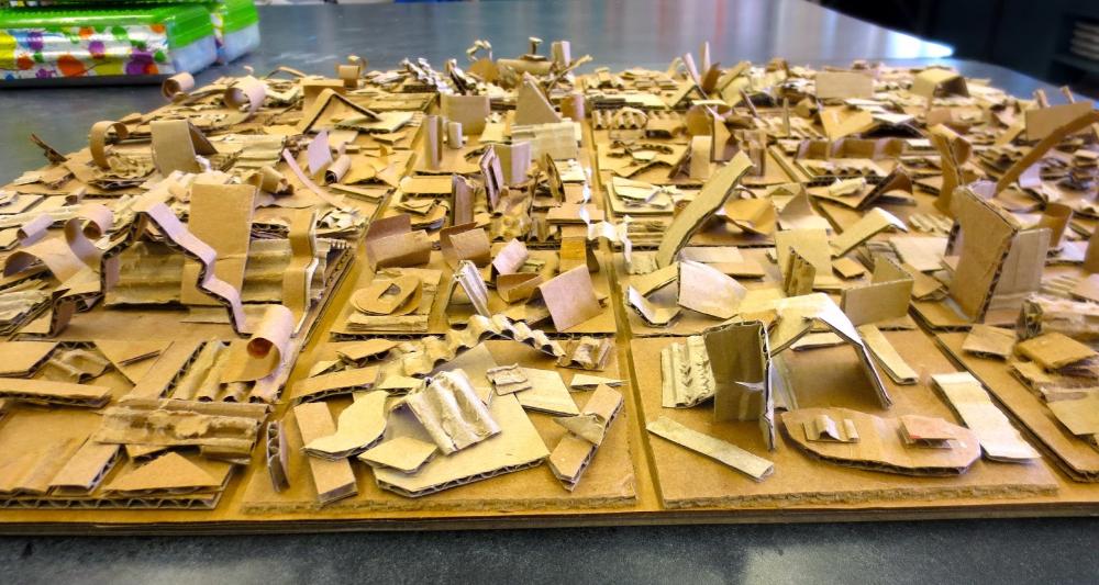 Zilker Elementary Art Class 4th Grade Recycled Art Group Project4th