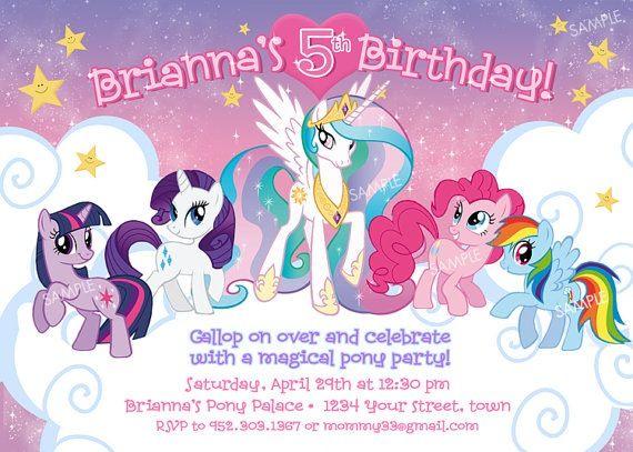 My Little Pony Invitation My Little Pony Birthday My Little Pony Birthday Party My Little Pony Invitations