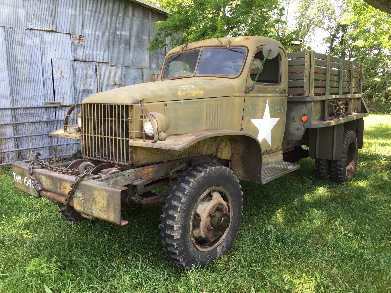 Chevy Military Trucks For Sale >> True Survivor 1942 Chevrolet G506 1 5 Ton Truck Military