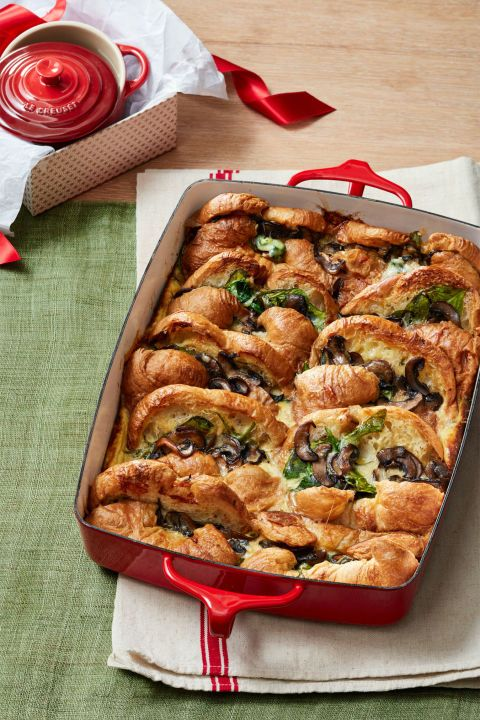 egg croissant casserole this buttery egg bake will have everyone jumping out of bed find more easy tasty and make ahead christmas brunch recipes and