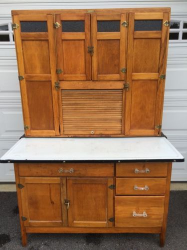 Charmant ANTIQUE HOOSIER CABINET MADE BY WILSON KITCHEN CABINET
