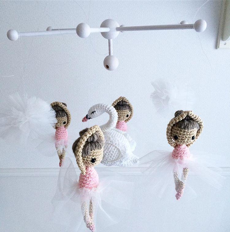 Fertig Schwan Schwanenprinzessin Ballerina Mobile Babymobile