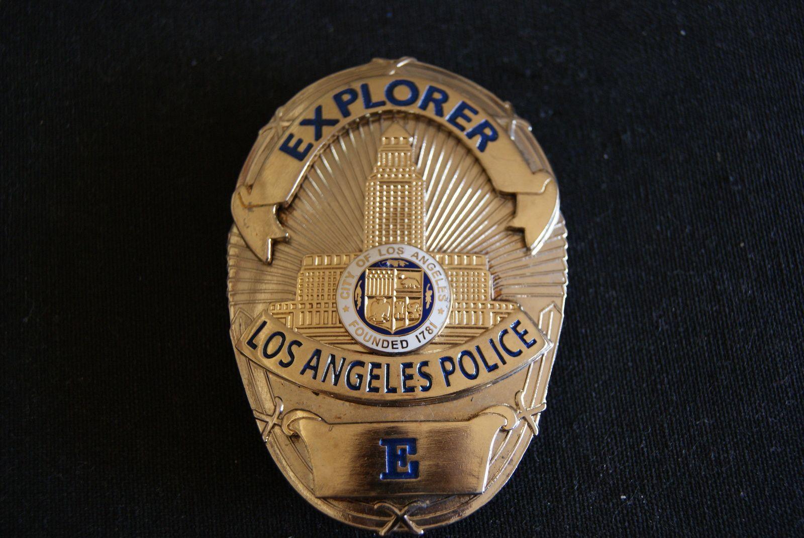 Los Angeles Police Explorer Police Badge Defunct Program Since 2009 Obsolete Police Badge Badge Movie Prop Badges