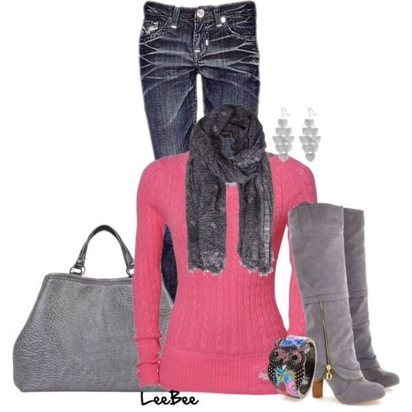 Pink & gray. Love it