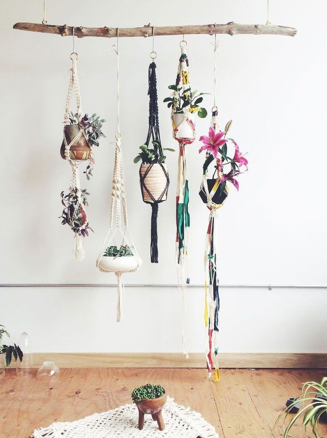 Scroll Down Through The Photos And See These 16 Clever DIY Hanging Planters  That Will Fascinate You.