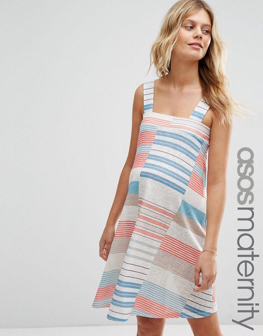 d5be5dba6a153 ASOS+Maternity+Mini+Dress+in+Cutabout+Stripe   Maternity in 2019 ...