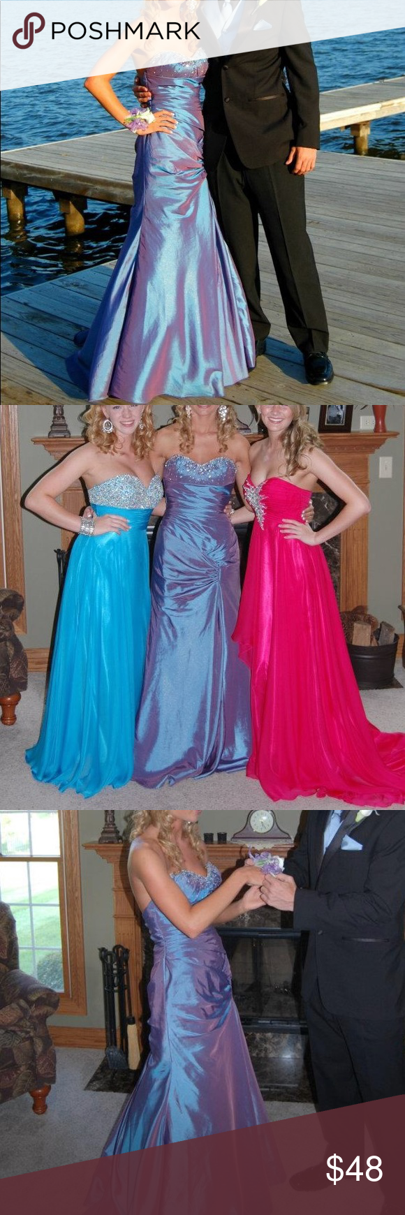 Joli prom prom dress formal gown purple blue formal gowns dress