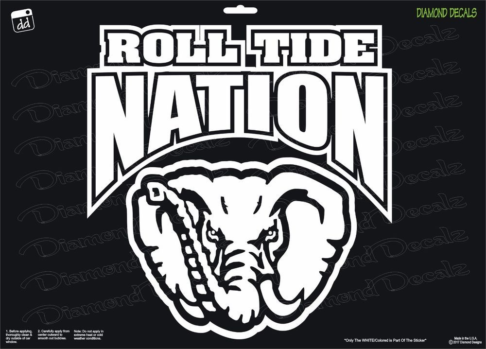 Details About Alabama Roll Tide Nation Vinyl Decal Sec
