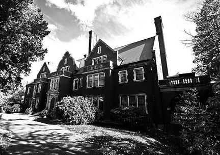Glensheen Mansion, Minnesota: On June 27, 1977, Elisabeth Congdon and her night nurse, Velma Pietila, were found brutally murdered. For more than thirty years, people have seen apparitions of the two murdered women roaming the halls of the stately mansion. Employees of the house as well as visitors have reported seeing shadowy figures glide about in the halls and basement, as well as getting the feeling of being watched. Others report lights flickering or going on and off by themselves.